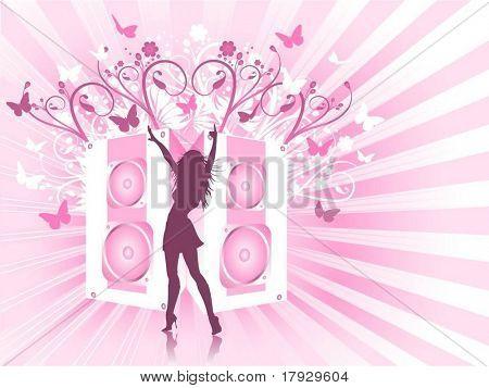 Sexy disco diva - vector