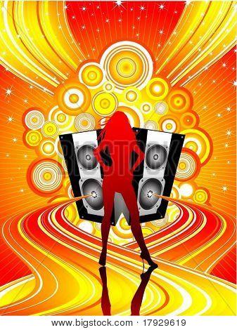 Sexy Disco Diva - Vektor