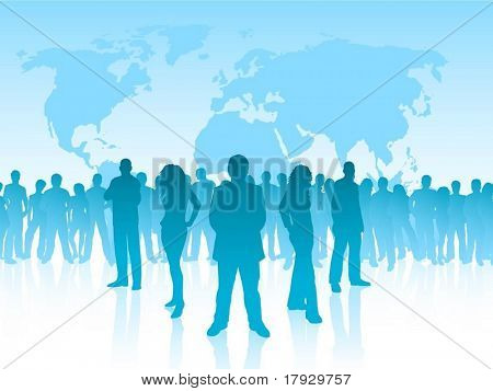 Leadership, each silhouette is separate and can be used individually - vector