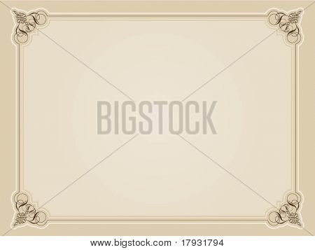 Blank background with decorative border