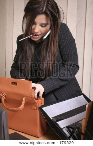 Multi Tasking - ocupado empresaria