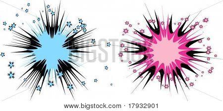 Starbursts - vector
