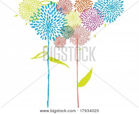 whimsical Grafiken floral background