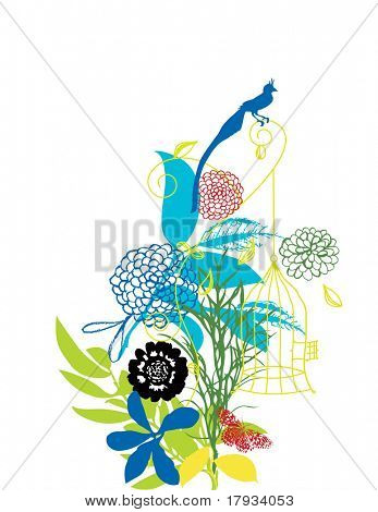 Collection of whimsical nature graphics