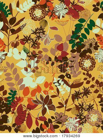 Vektor retro floral seamless pattern