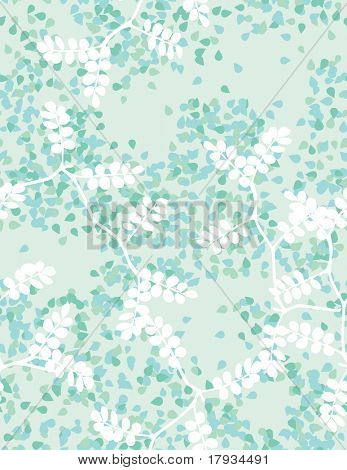 Vector Teal Trees Pattern (seamless)