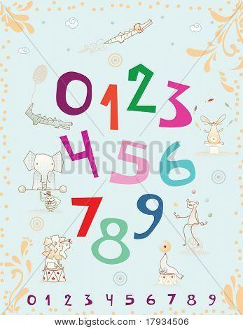 Vektor Baby Nursery Circus Poster