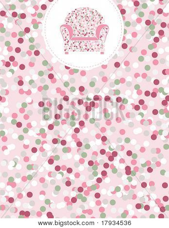 Vector Confetti Pattern (seamless) and Furniture