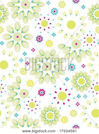 Vector Citrus Floral Pattern (seamless)