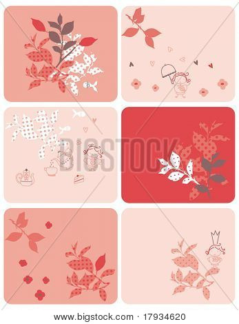 Vector Tea Garden (Graphics Set)