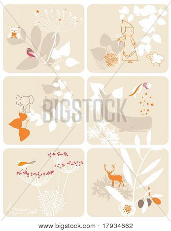Vector Children's Floral (Graphics Set)