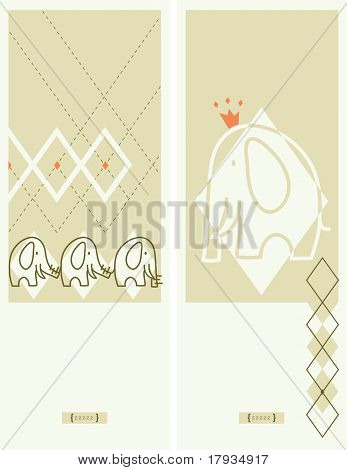 Vector Elephant Argyle (Graphics Set)