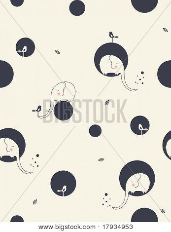 Vektor schüchtern Elefant (Seamless Pattern)