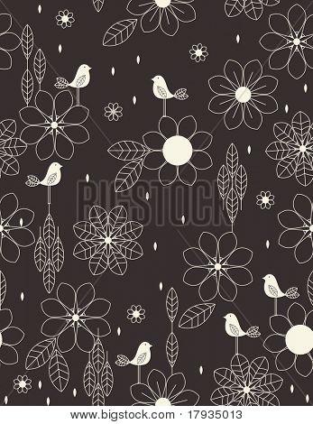 Vetor Floral (padrão sem emenda)