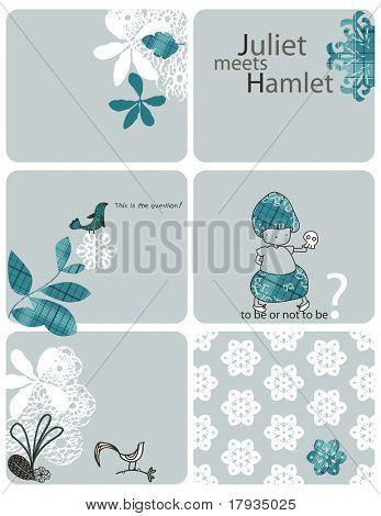 Vector Little Juliet meets Hamlet (Graphics Set)