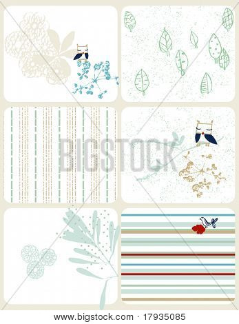 vector Retro Floral (Graphic Set)