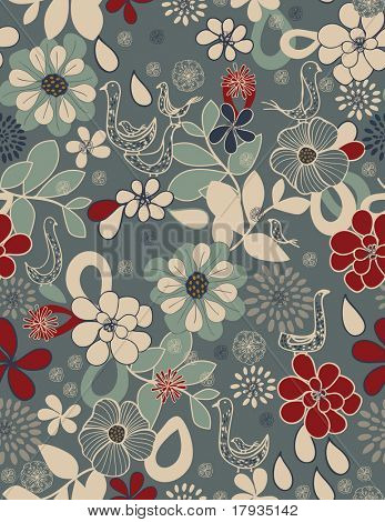 Vector Floral (Seamless Pattern)