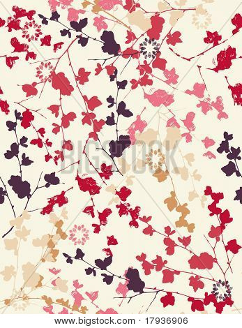 Vector seamless pattern displaying vintage floral.