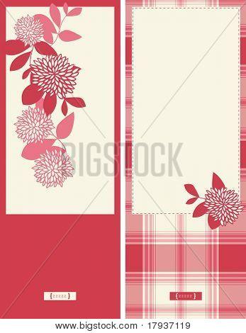 Vector Cards with Plaid Pattern (Graphic Set)