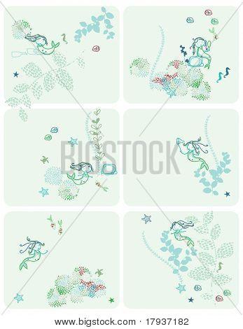 Little Aqua Mermaid (Graphics Set)