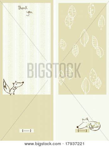 Vector Forest with cute animals (Graphics Set)