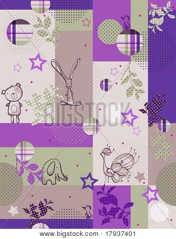 Vector Baby Quilt (Seamless Pattern)