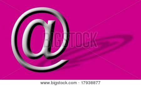 Arobase AT web email symbol illustration, internet sign