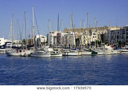 Ibiza Balearic Mediterranean white island from Spain
