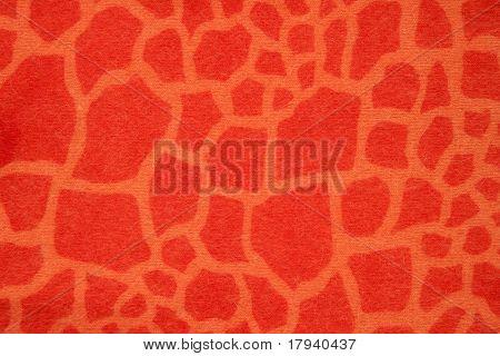 Patrón de la tela del invierno de jirafa naranja imitación fantasía