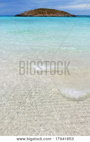 Illetes beach islands in Formentera Balearic islands Spain Illetas