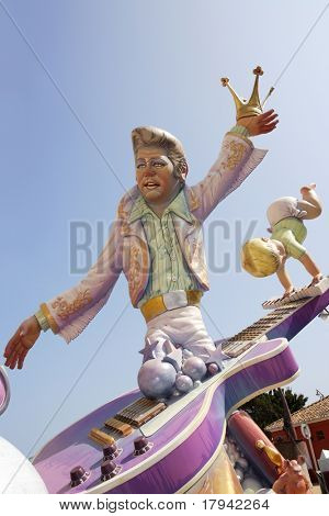 fallas traditional cartoon cardboard human figures will be burned