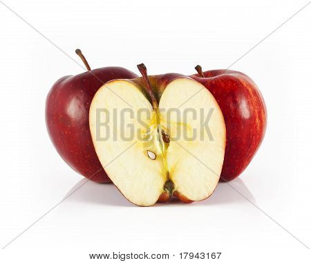 two apple and half apple