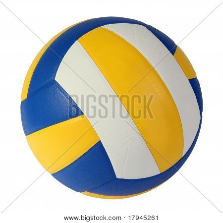 Volley-ball Ball On The White Background