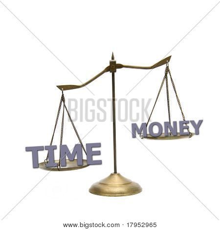 Time Is Greater than Money Concept