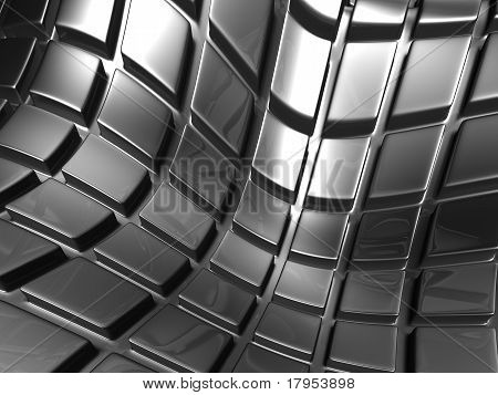 Abstract Aluminium Silver Square