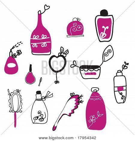 Perfume and cosmetics funny set