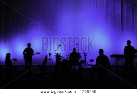 Performing Band In Silhouette