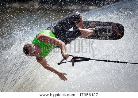MELBOURNE, AUSTRALIA - MARCH 14: Ryan Green participates in the trick event at the Moomba Masters on March 14, 2011 in Melbourne, Australia