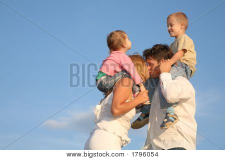 Kissing Parents With Children