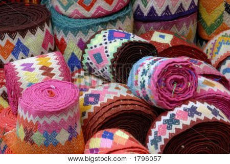 Blankets On A Market Stall