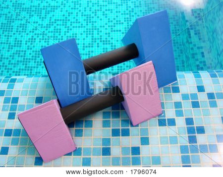Aqua Dumbbells Pink Blue