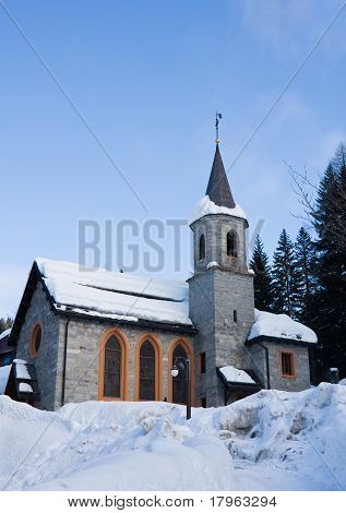 Church.madonna Di Campiglio. Italy.