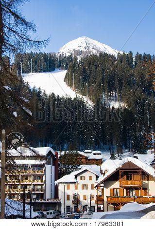 Ski Resort Madonna Di Campiglio. Italy.