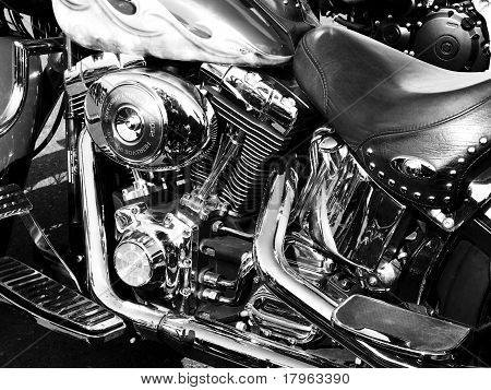 Chrome Engine Motorcycle