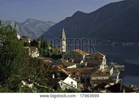 Views Of Perast On Kotor Bay, Montenegro