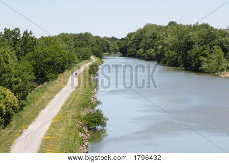 Hiking Along The Canal Path