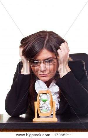 Worried Businesswoman,  Time Is Running