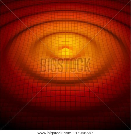 Abstract mosaic 3d amplitude waves. Vector background eps 10.