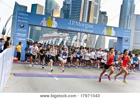 Singapur jp Morgan corporate challenge 2011