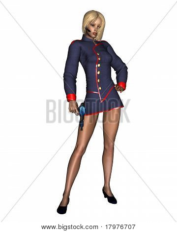 Sexy Female Starship Officer